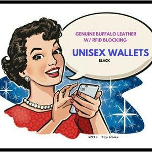 Black Wallets W/ Credit Card ID Security